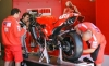 Ducati GP team working on Loris Capirossi's machine.