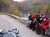 The overlook on Maury River Road, see how warm everyone looks. It is a great motorcycle road no matter what the temps.