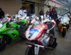 The bikes lined up for tech after superpole.  Only weight was taken - unless a challenge was present