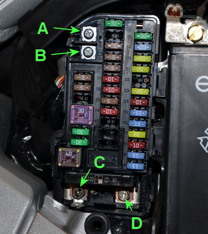 SideFuseBox what do these do (side fuse box)? gl1800riders 2003 suzuki hayabusa fuse box location at fashall.co