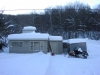 Just some slight accumulation of snow at my family's lake house at Lake Como, NY.  Prime snowmobiling weather!