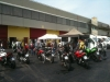 The Mugello 10-minute first-timers' bikes, including my MTS1200S on the left in the back!