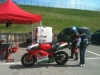 Few Ducatis on the track, like this beatiful 1098