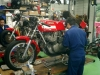 MV Agusta in a Guzzi shop