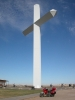 Out in the middle of nowhere a cross appeared, a big one!  Claimed to be the biggest in the western hemisphere.  Somewhere in N.NM.