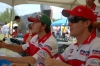 Ben and Neil were great during their visit to the Ducati Hospitality tent signing all sundry items for fans.