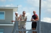 Rick and John Hackett with Douglas hanging out on the observation deck.