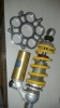 New goodness. Billet sprocket carrier and Ohlins via Greg Woodman.